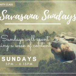 Community Class: Savasana Sundays